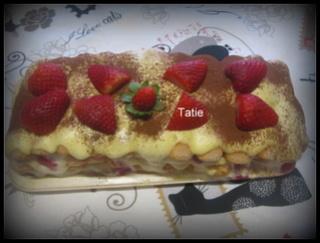 Tiramisu Mascarpone aux fraises. Img_4612