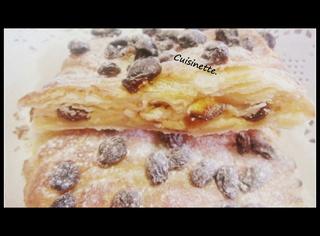 Strudel aux pommes et raisins.variante.  Img_4710