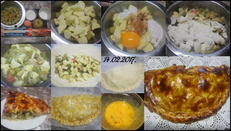 Chausson aux pommes et rhubarbe. Tartel13