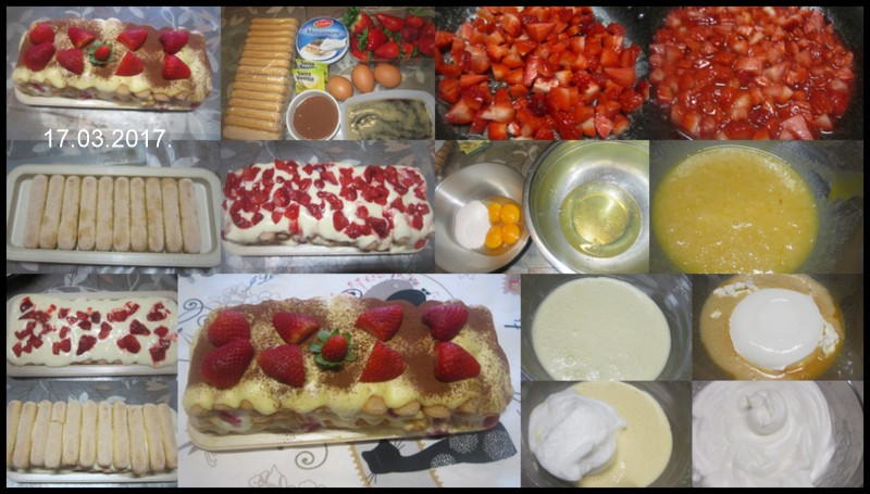 Tiramisu Mascarpone aux fraises. Tirami10