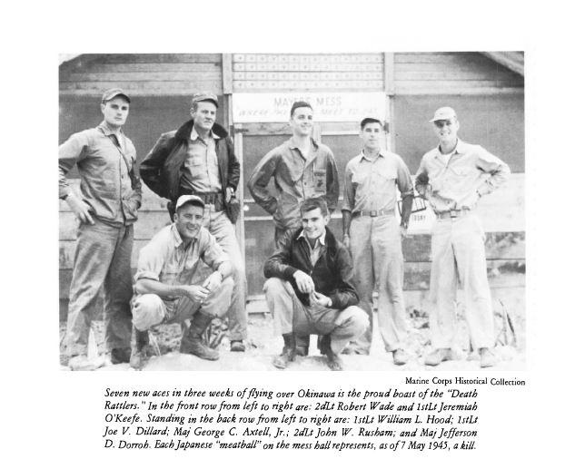 Casque d'un as du VMF-323  Death Rattlers USMC JOHN W RUHSAM Ruhsam11