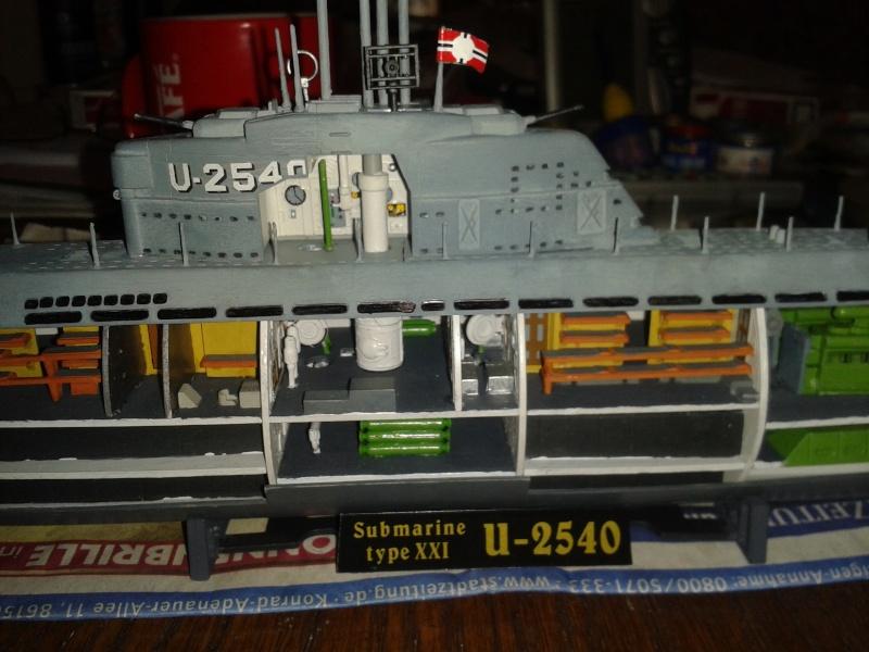U-Boot Typ XXI mit Interieur FERTIG 2014-010