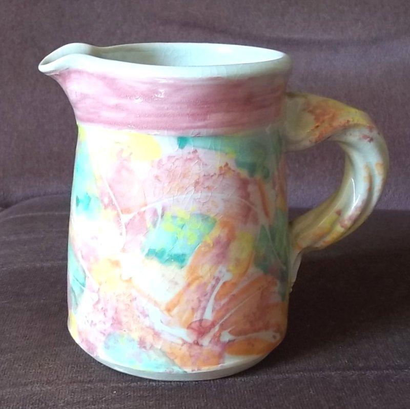 Colourful stoneware jug 100_3422