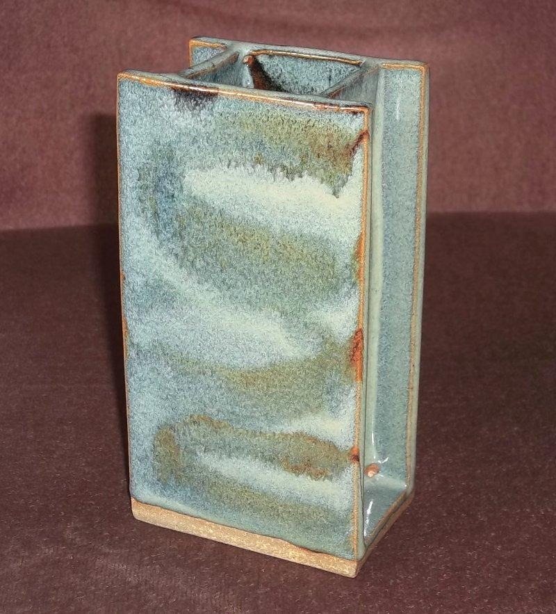 Stoneware slab vase 100_3442