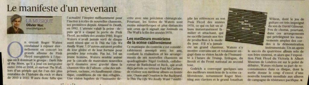 """Wawa en 1ère page du supplément """"Le Figaro et vous"""" du 27/04/2017 Waters14"""