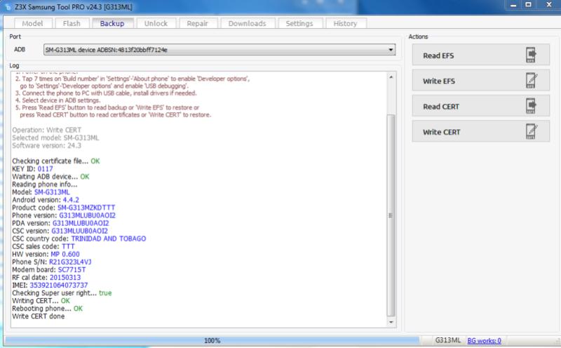 Activaciones de Z3x 24.3 Nuevo loader full Escrit10