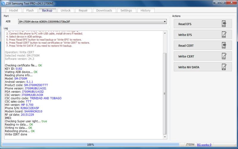 Activaciones de Z3x 24.3 Nuevo loader full Escrit11