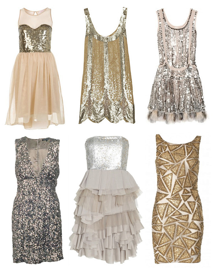 Look elegant and beautiful in a sparkly dress like this model Sequin11