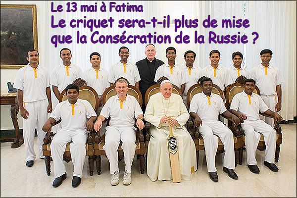 Fatima: le club de cricket du Vatican au Portugal pour l'anniversaire des apparitions  Crique10
