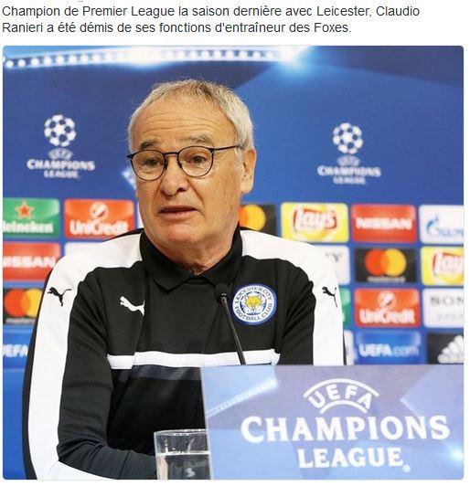 Leicester: Claudio Ranieri désigné entraîneur italien de l'année Captur11