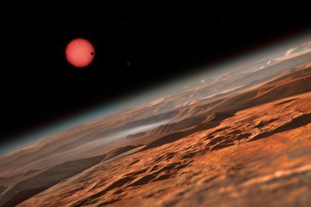 TRAPPIST ,exceptionnelle de trois exoplanètes  13868510