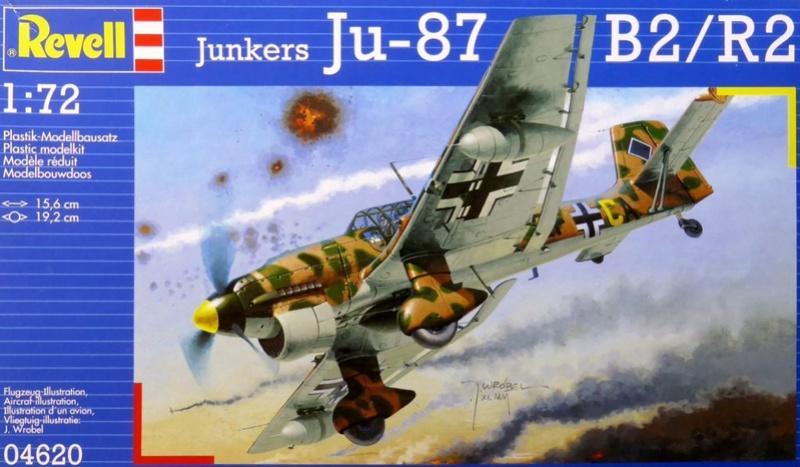 Ouvre boite Junkers JU 87 G/D Tank Buster 1/72 Revell Ju87b210