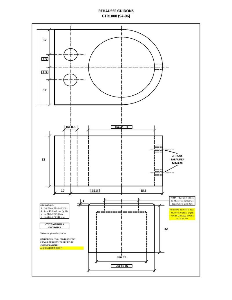 Fabrication rehausse Gtr 1000.  Rehaus10
