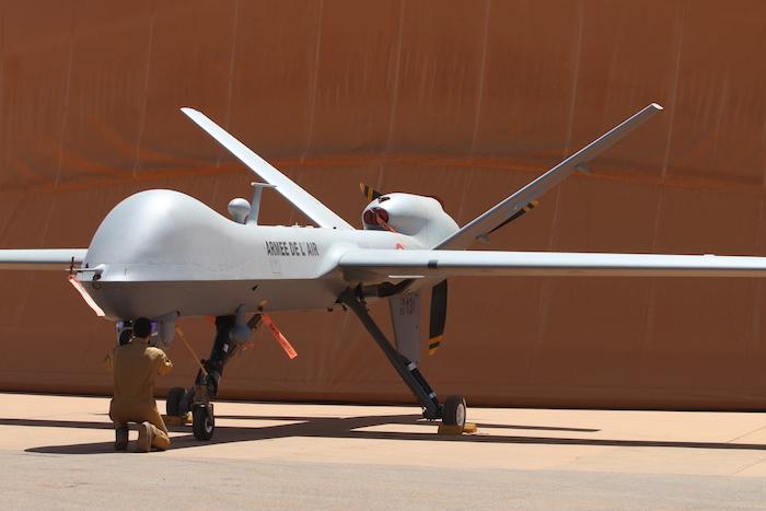 Un reaper-drone  américain pour surveiller le salon du Bourget 310