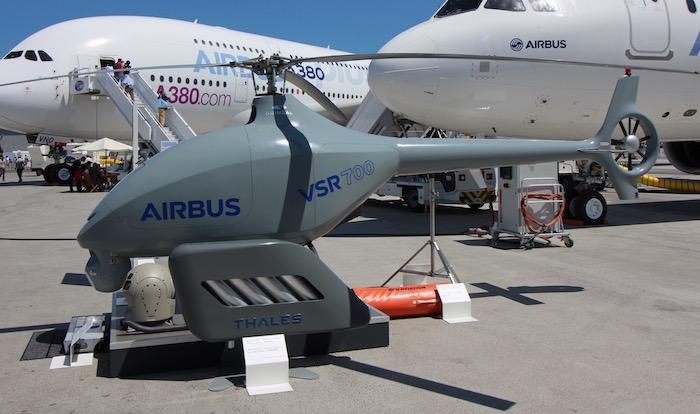 Le drone VSR700 en demonstration. Vsr70010