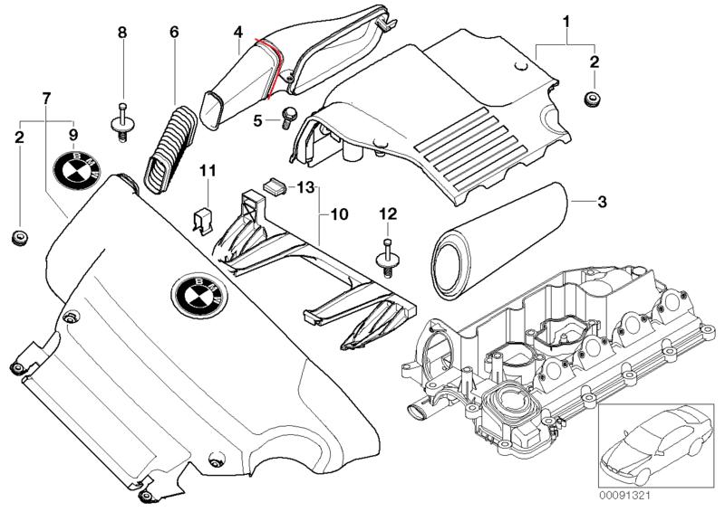 [ BMW E46 320d M47 ] Manchon réducteur air 13_06510