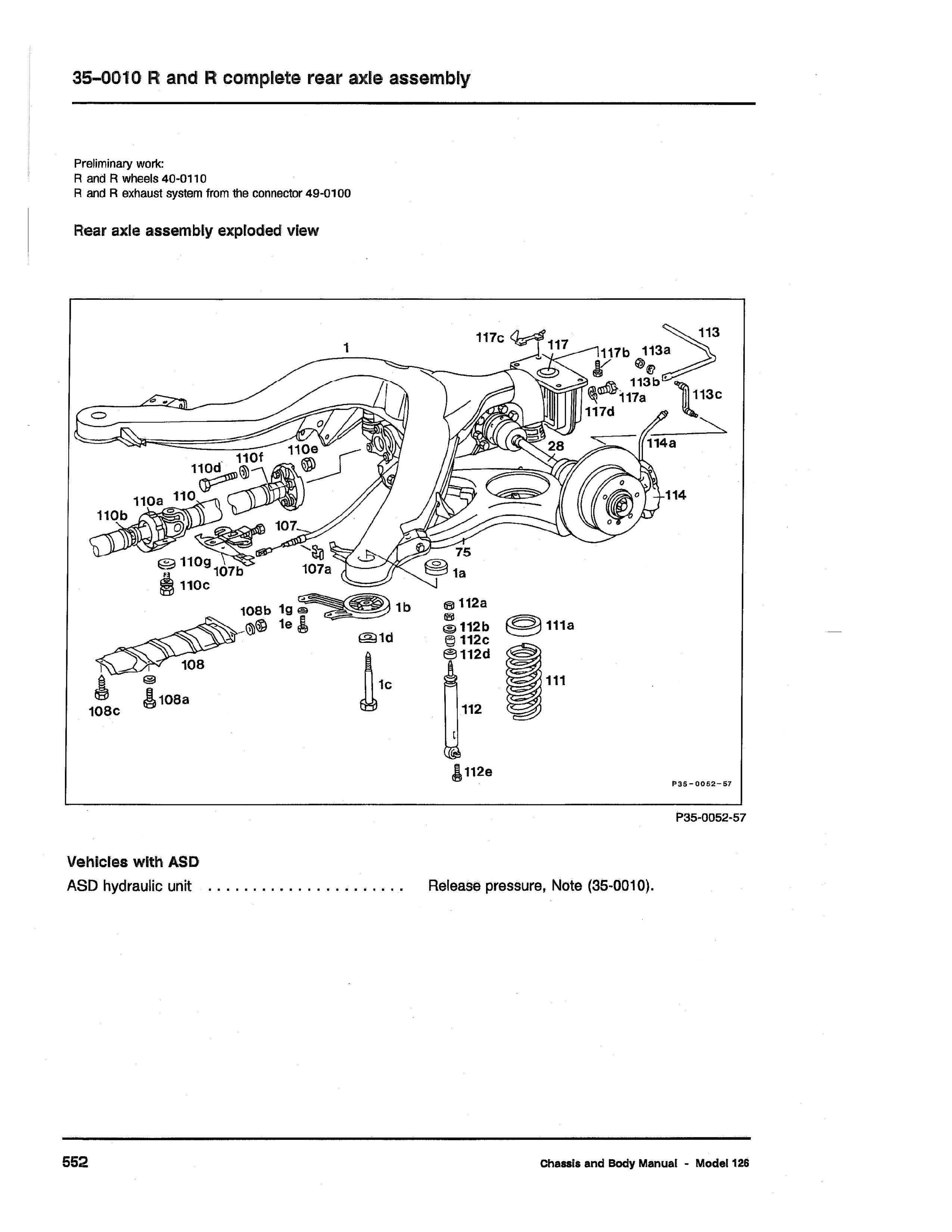 (W126): Diagrama completo da suspensão traseira  0001_434