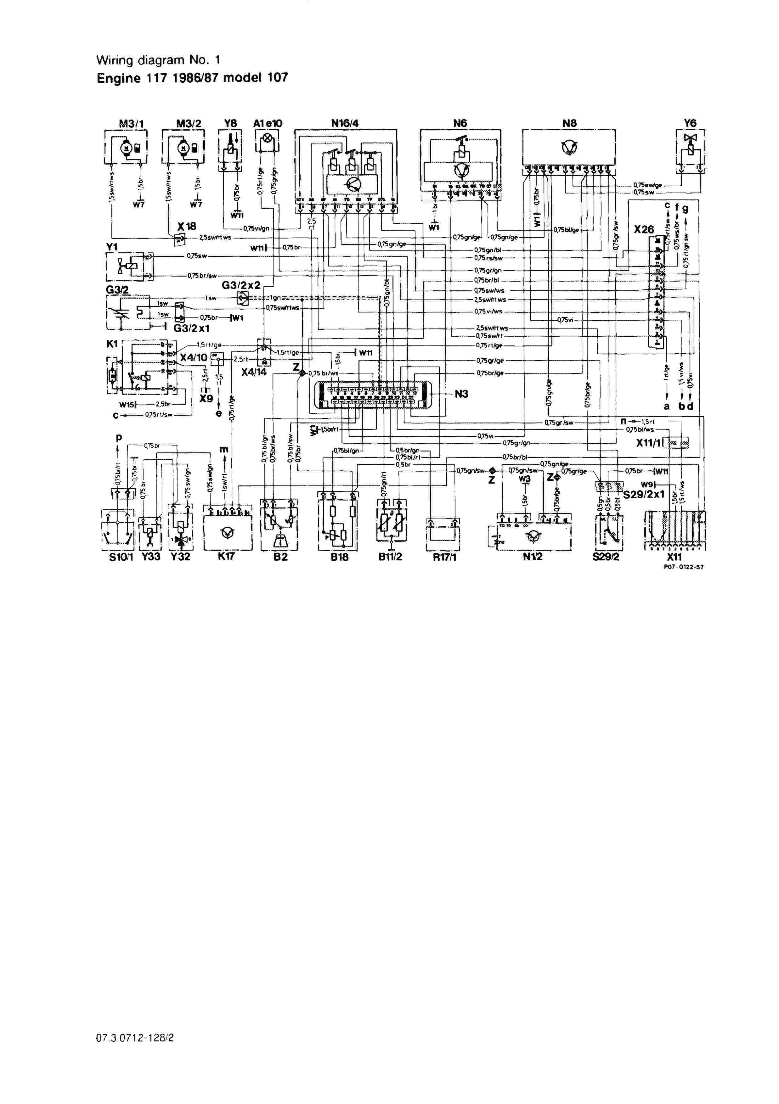 (W126): Diversos diagramas elétricos 0002_144