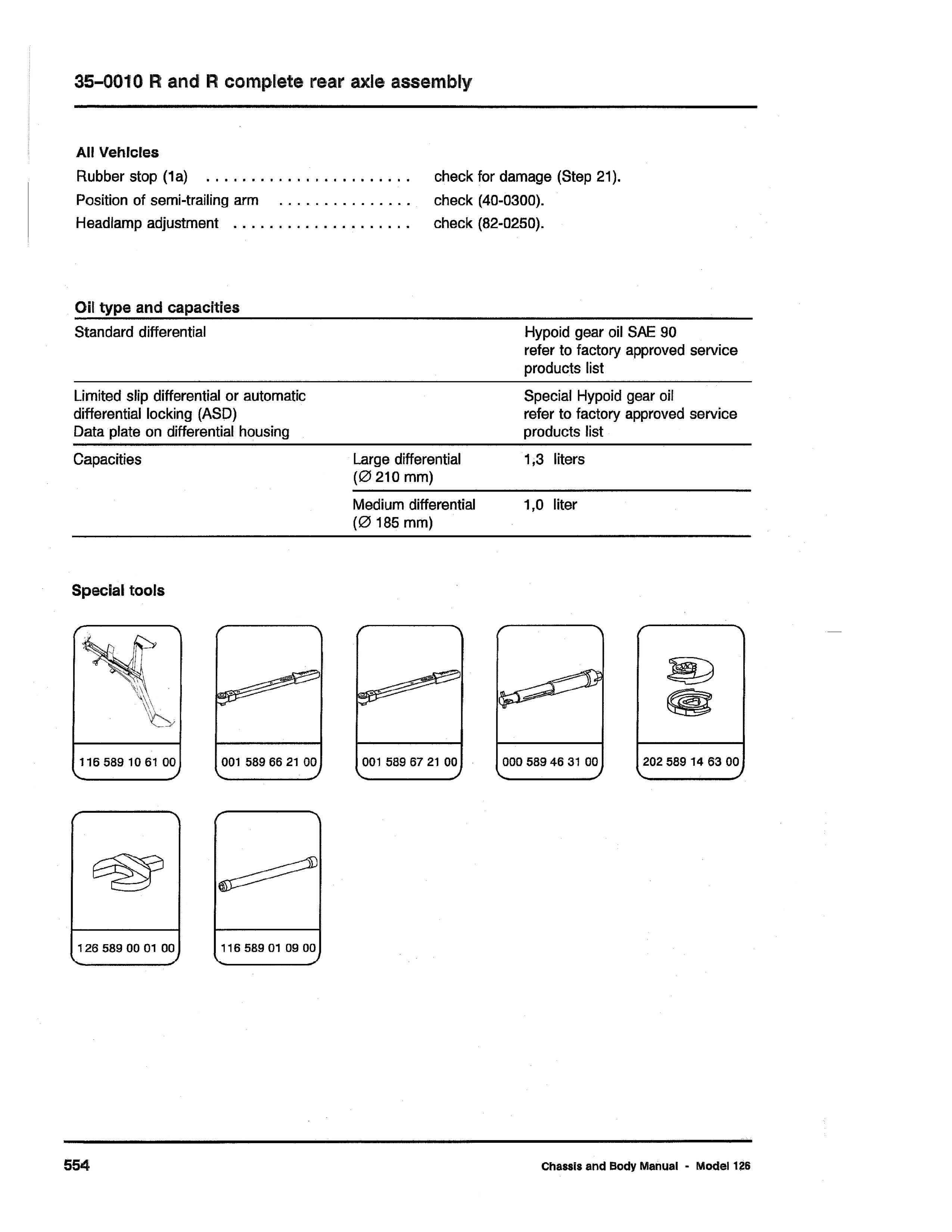 (W126): Diagrama completo da suspensão traseira  0003_433