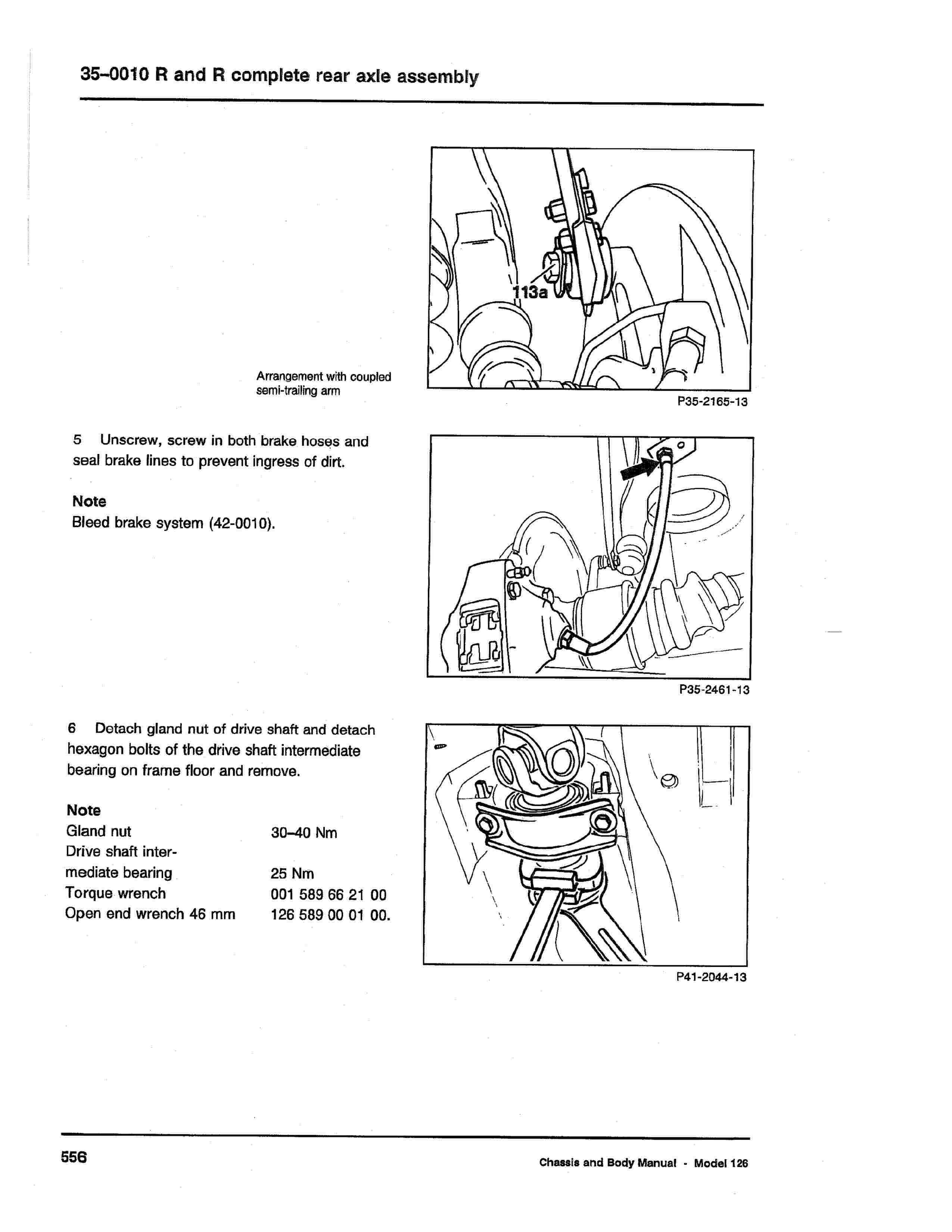 (W126): Diagrama completo da suspensão traseira  0005_233