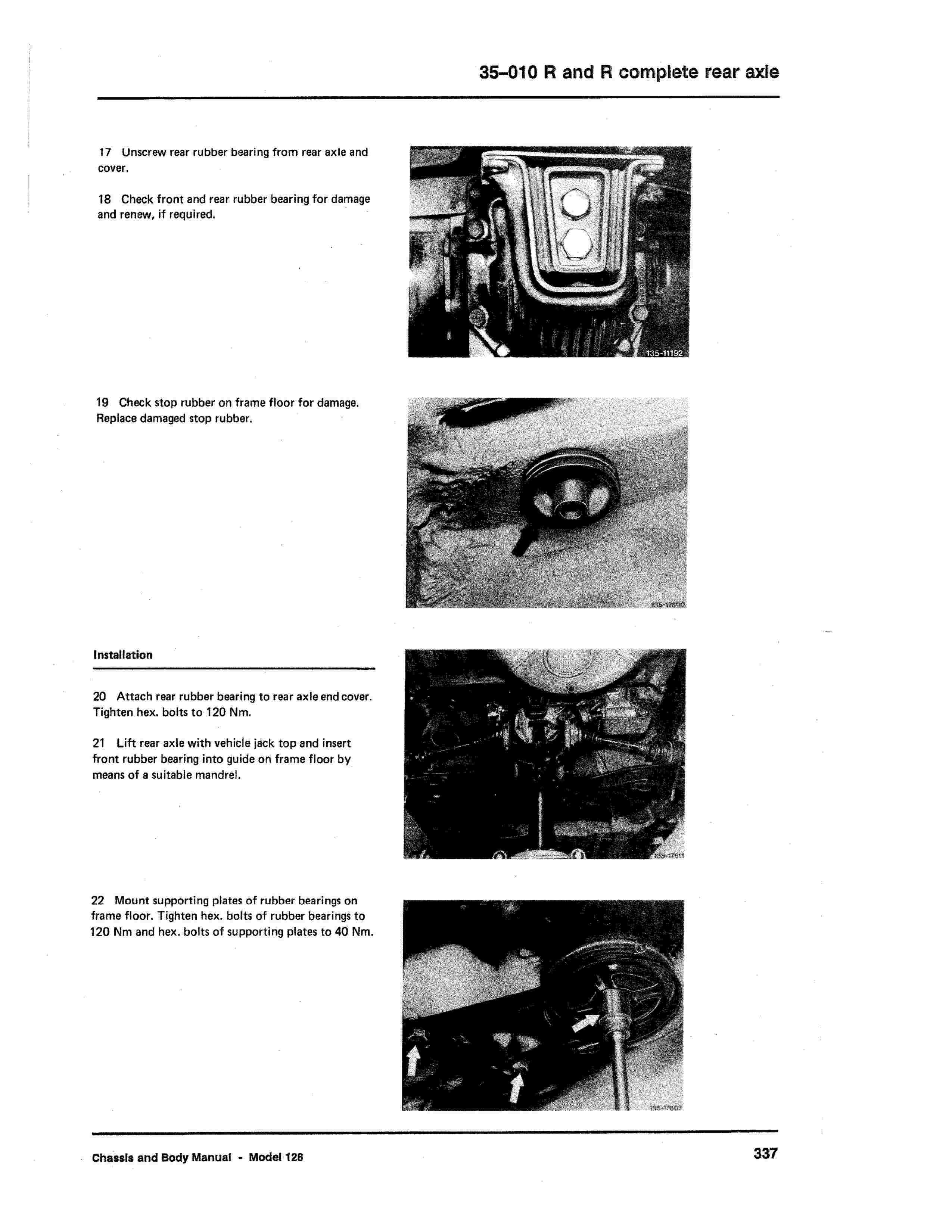 (W126): Diagrama completo da suspensão traseira  0005_334