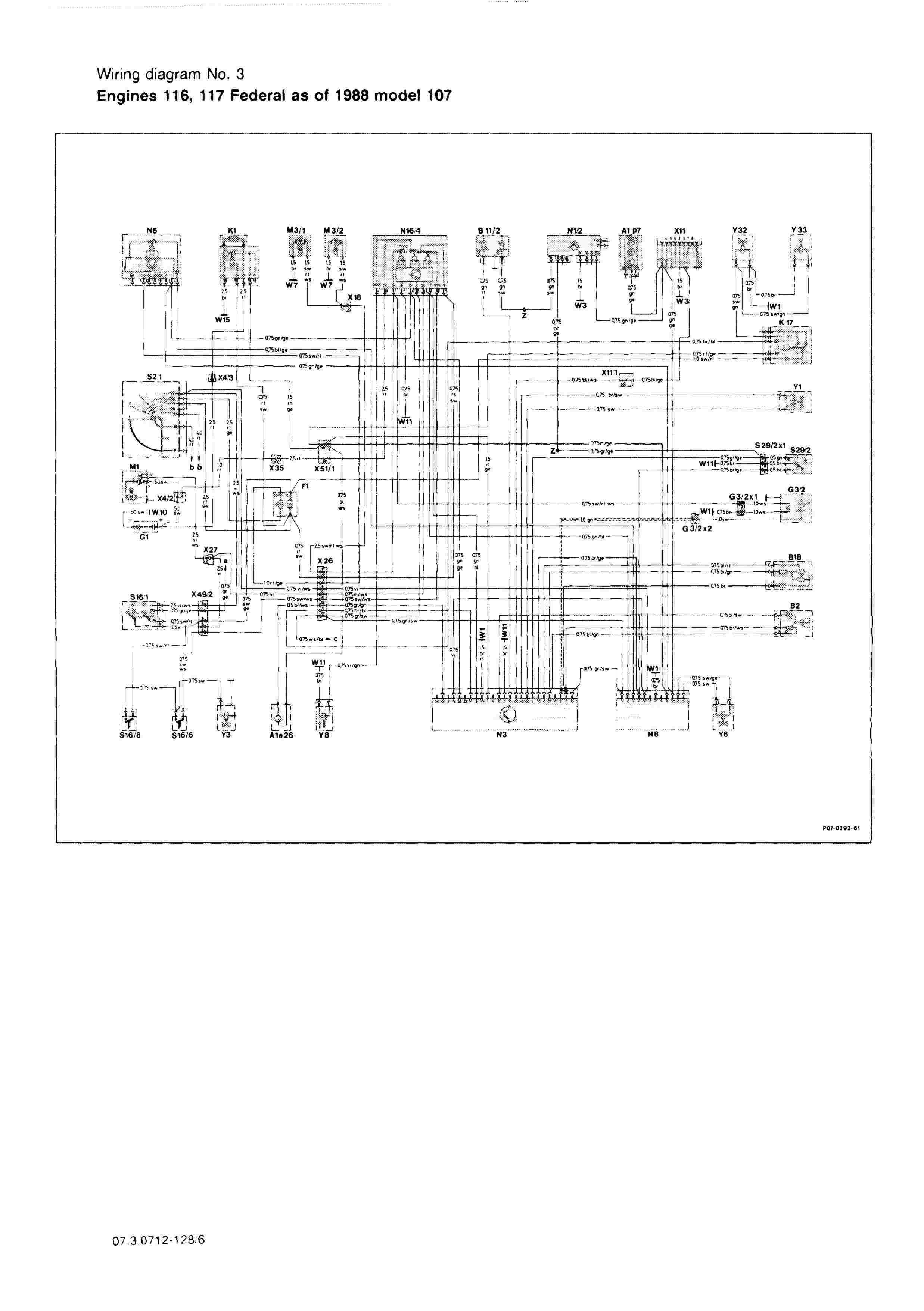 (W126): Diversos diagramas elétricos 000613