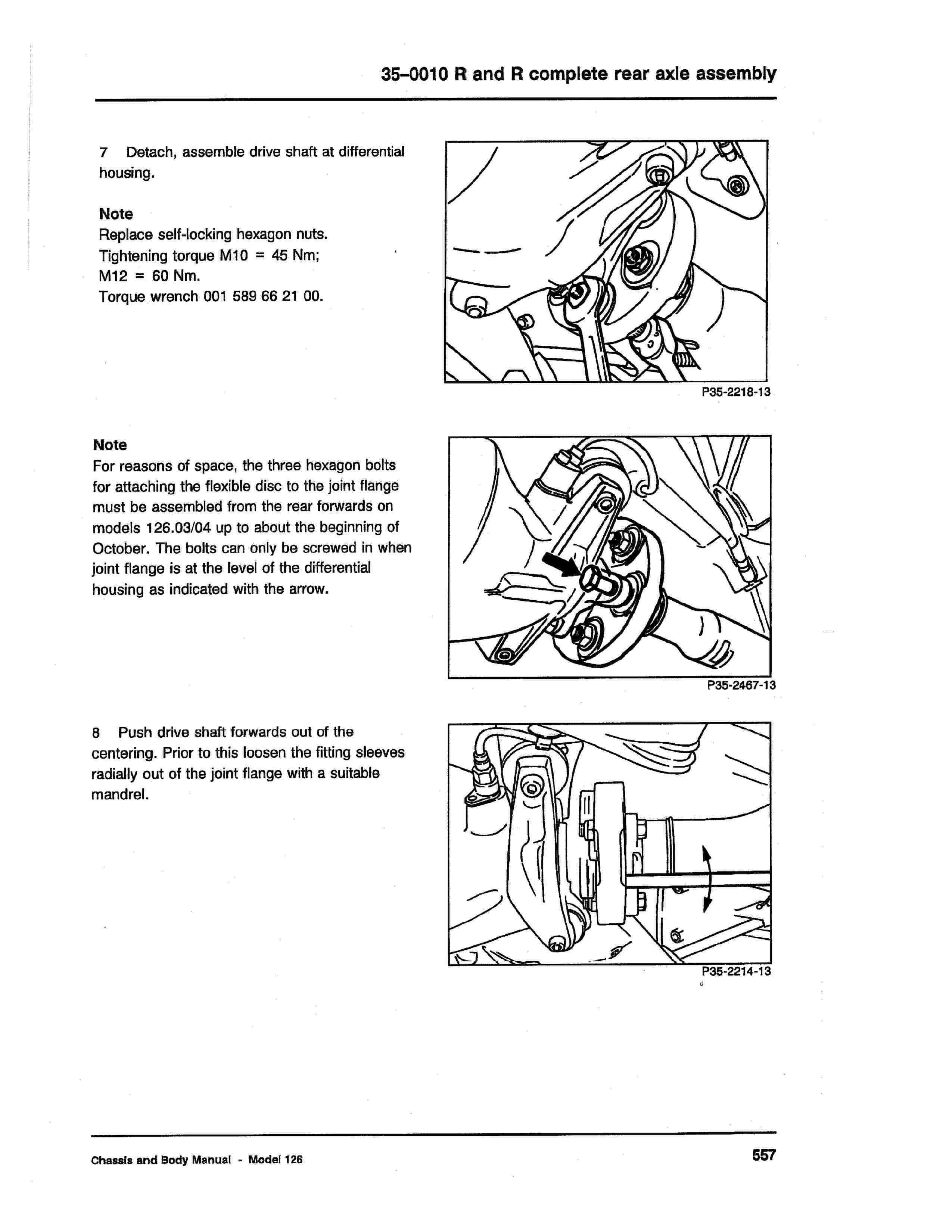 (W126): Diagrama completo da suspensão traseira  0006_234