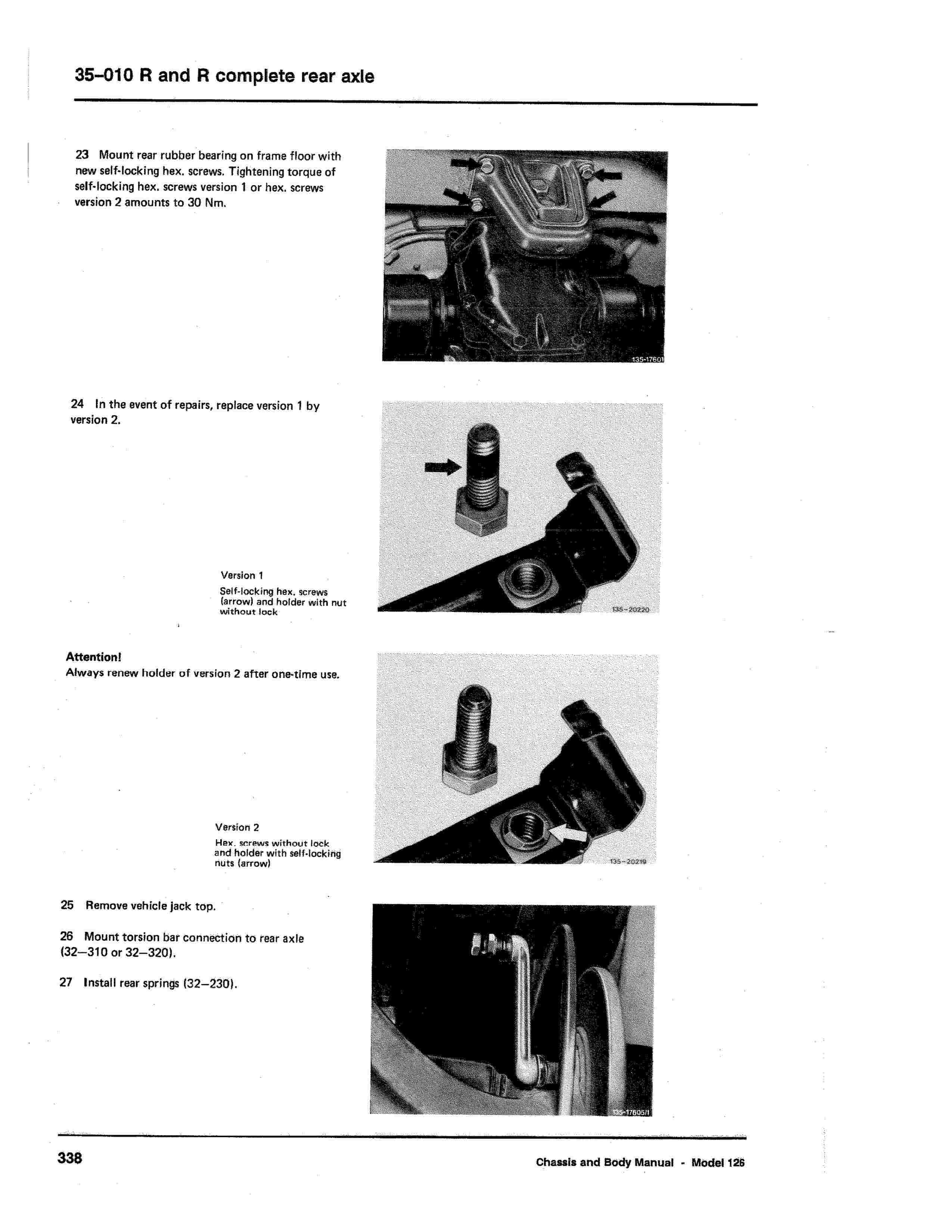(W126): Diagrama completo da suspensão traseira  0006_322