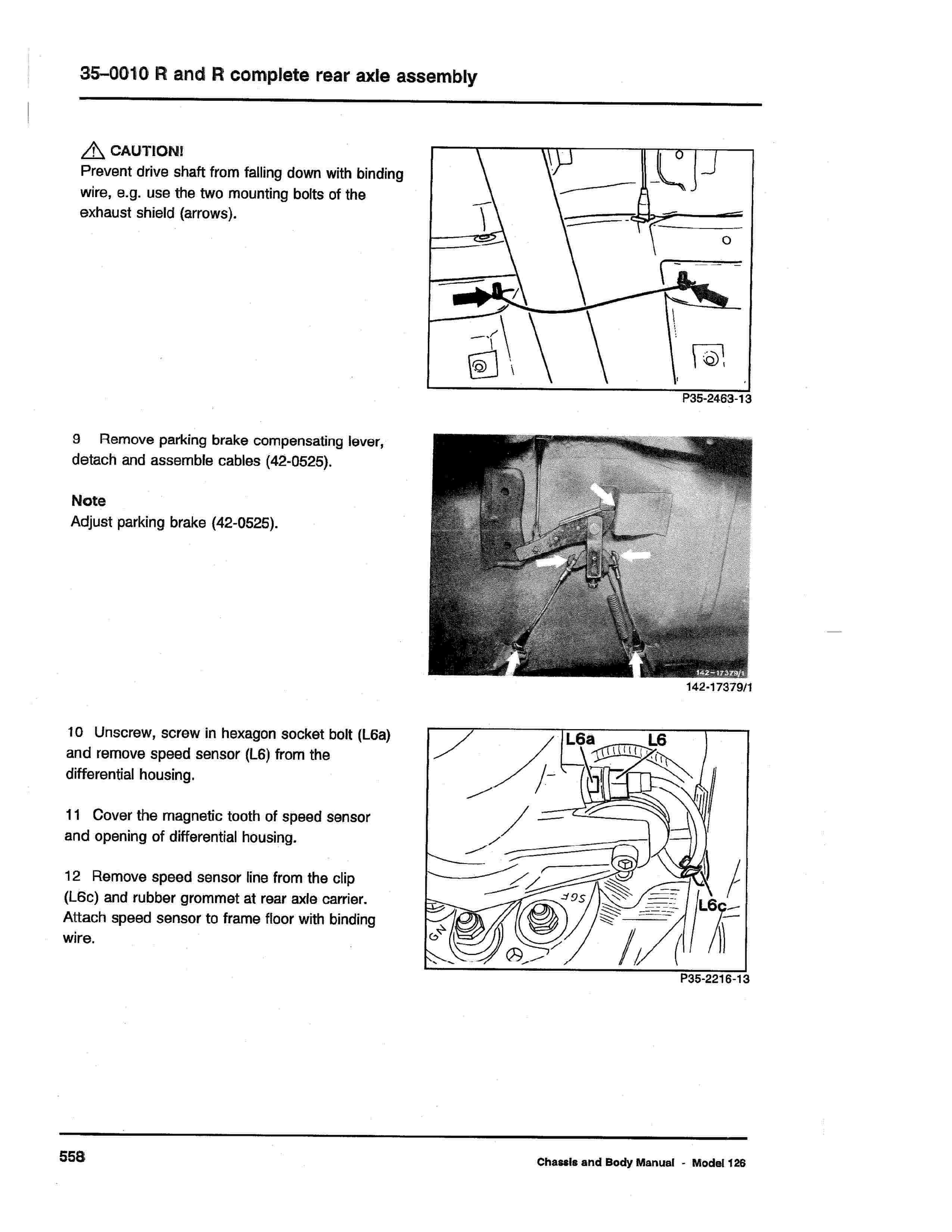 (W126): Diagrama completo da suspensão traseira  0007_225