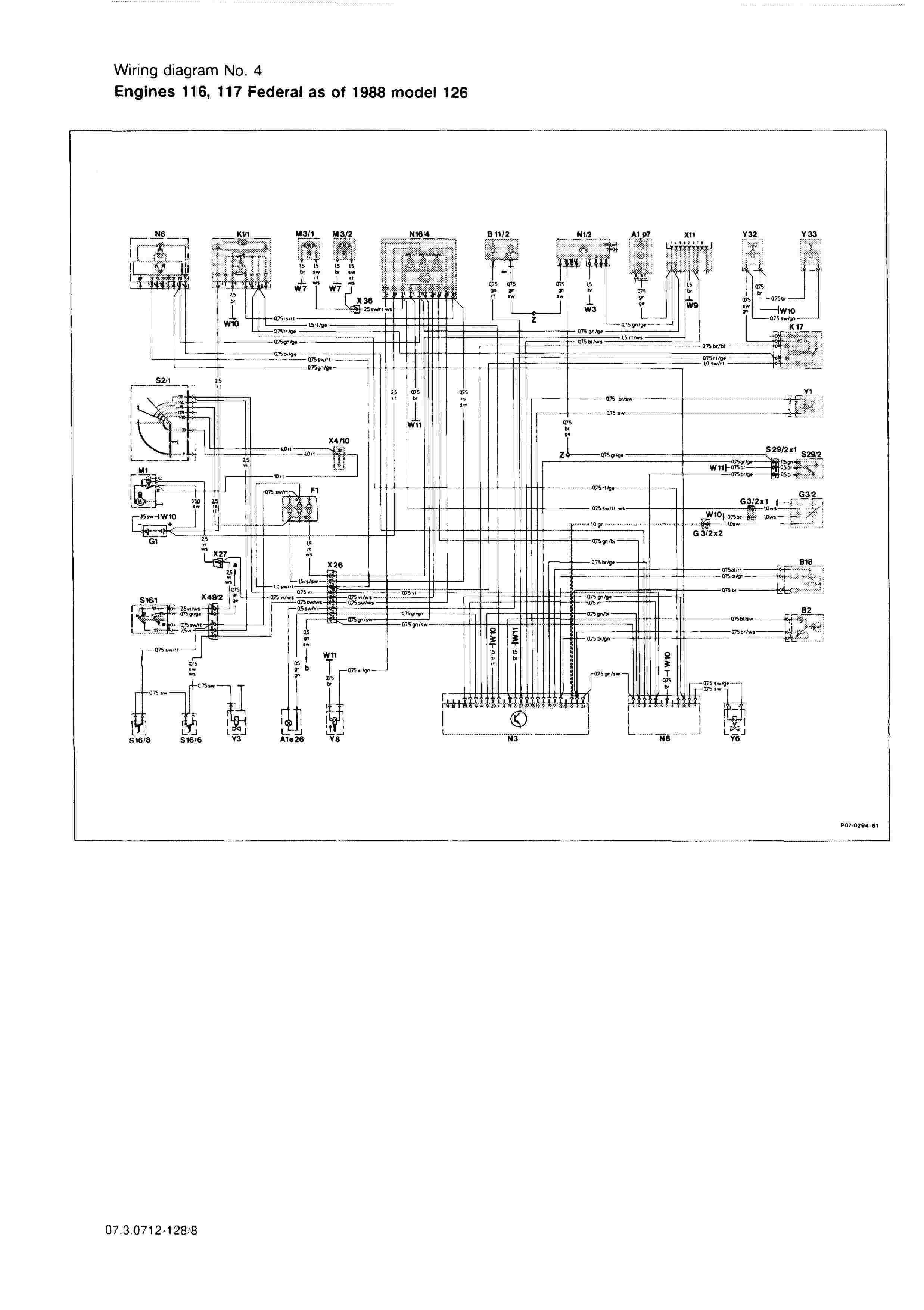 (W126): Diversos diagramas elétricos 000813