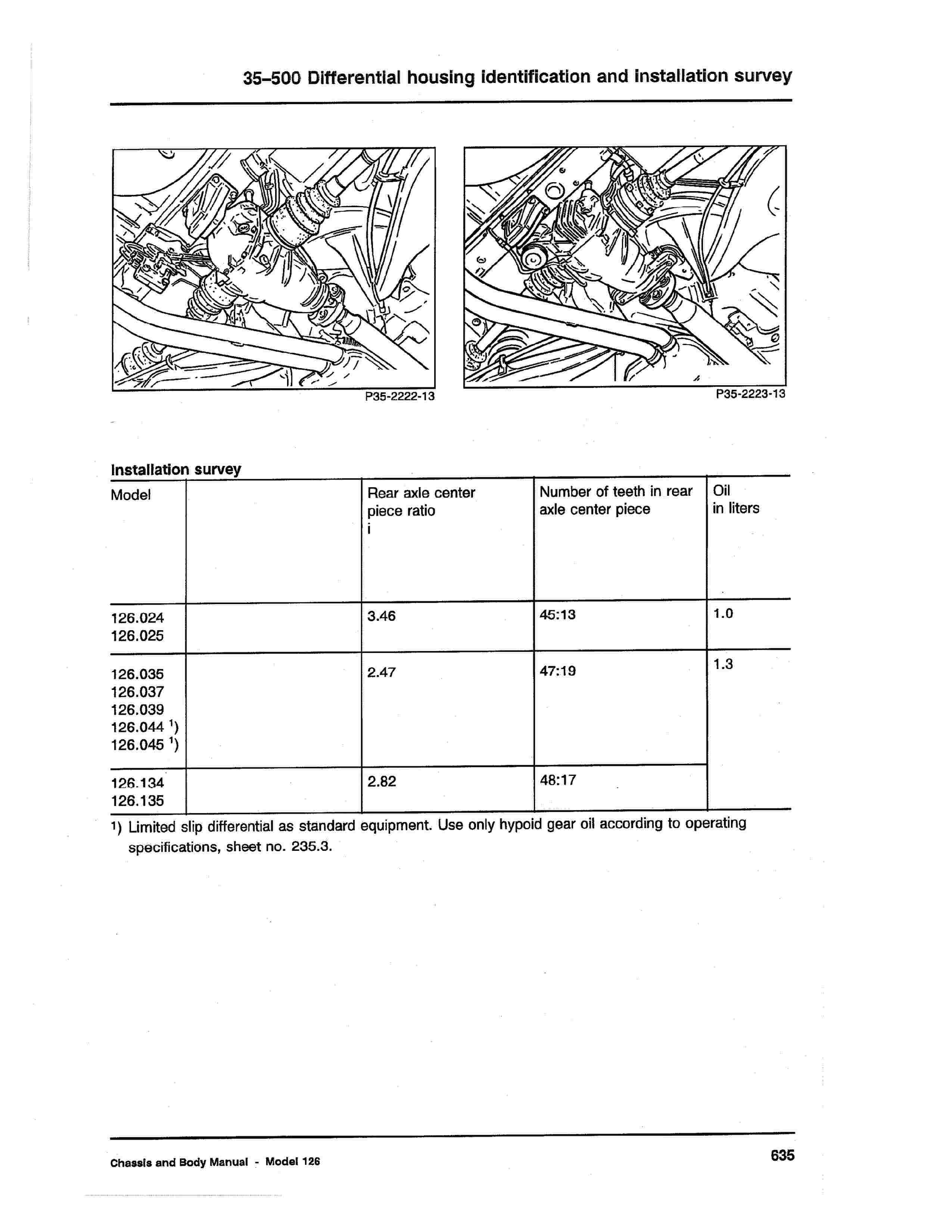 (W126): Informações gerais - diferencial  0008_128