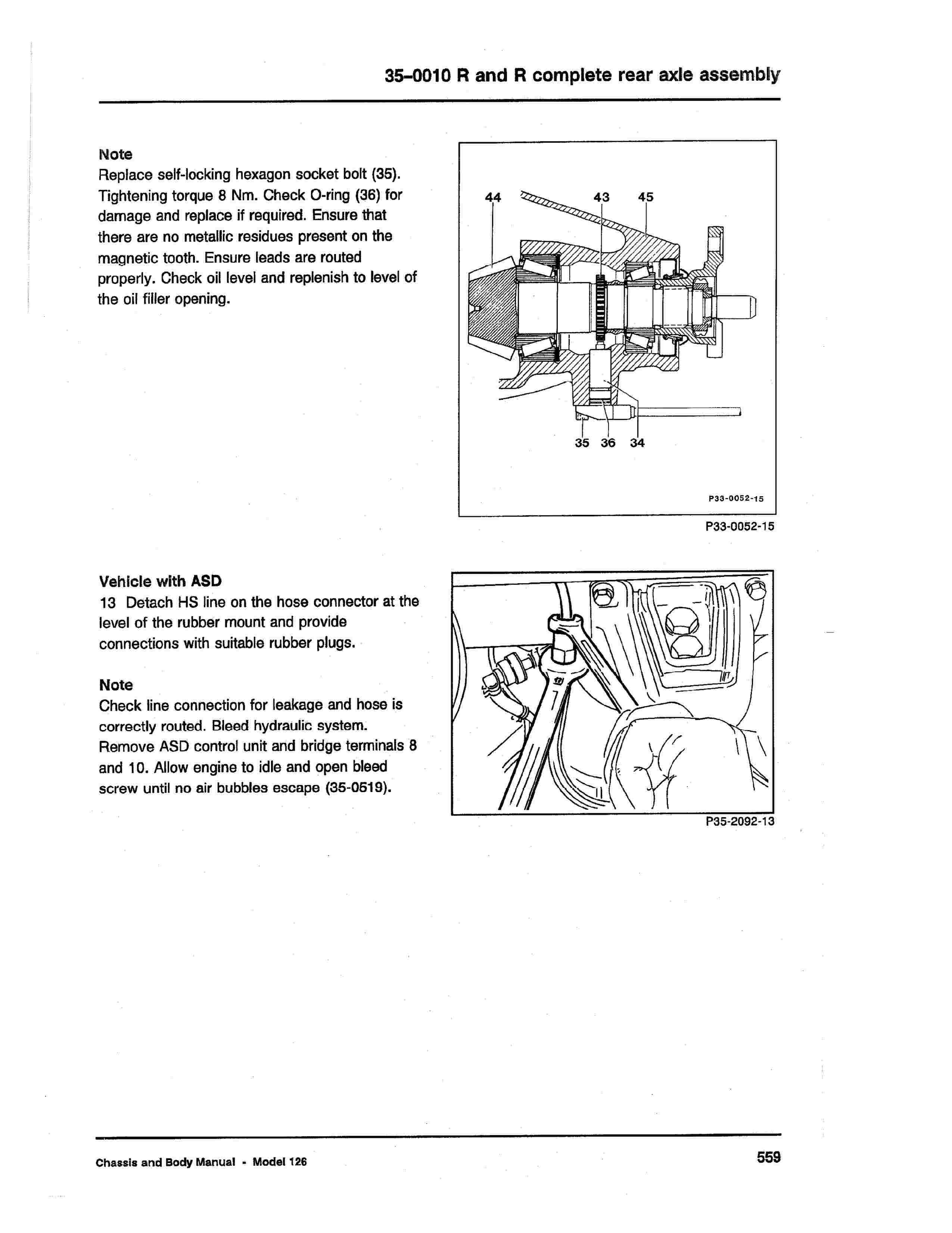 (W126): Diagrama completo da suspensão traseira  0008_216