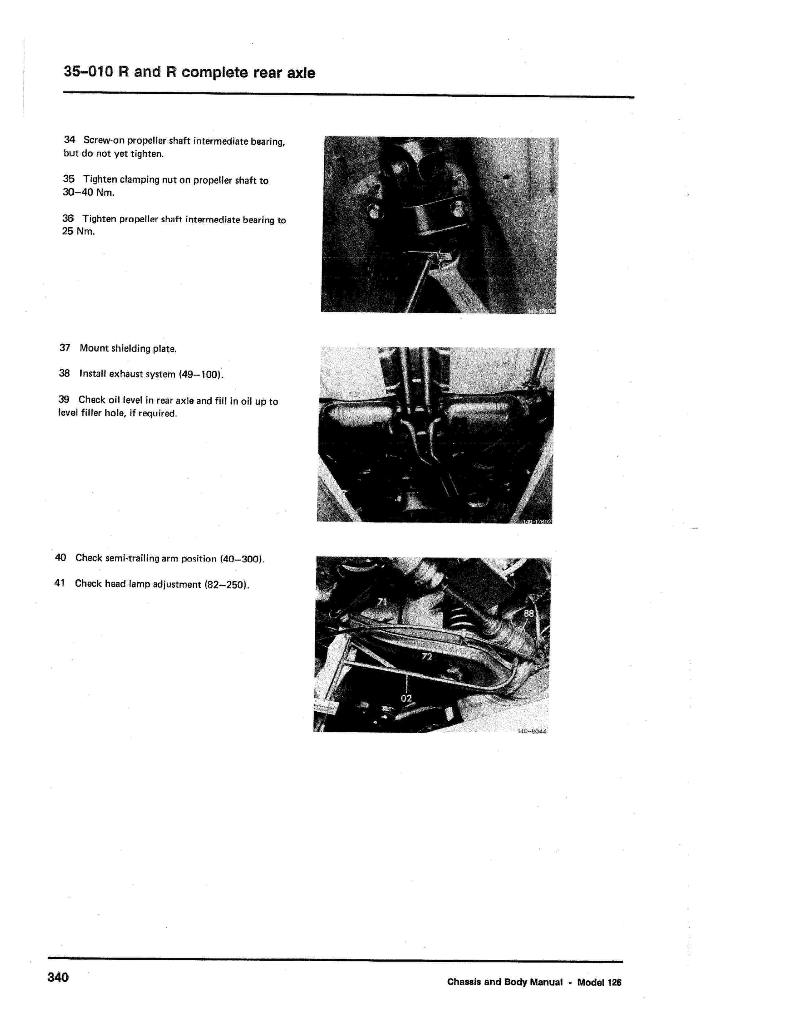 (W126): Diagrama completo da suspensão traseira  0008_313