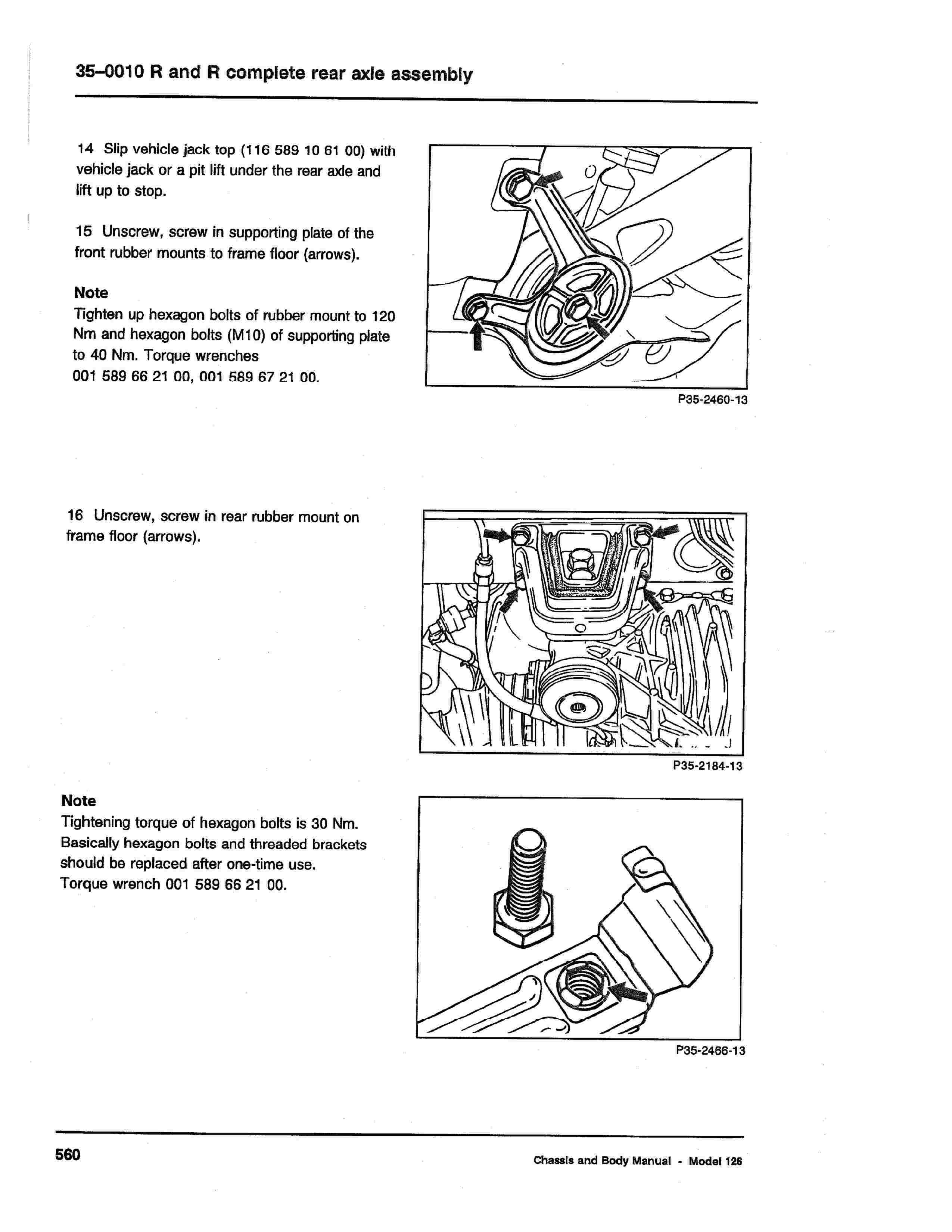 (W126): Diagrama completo da suspensão traseira  0009_123