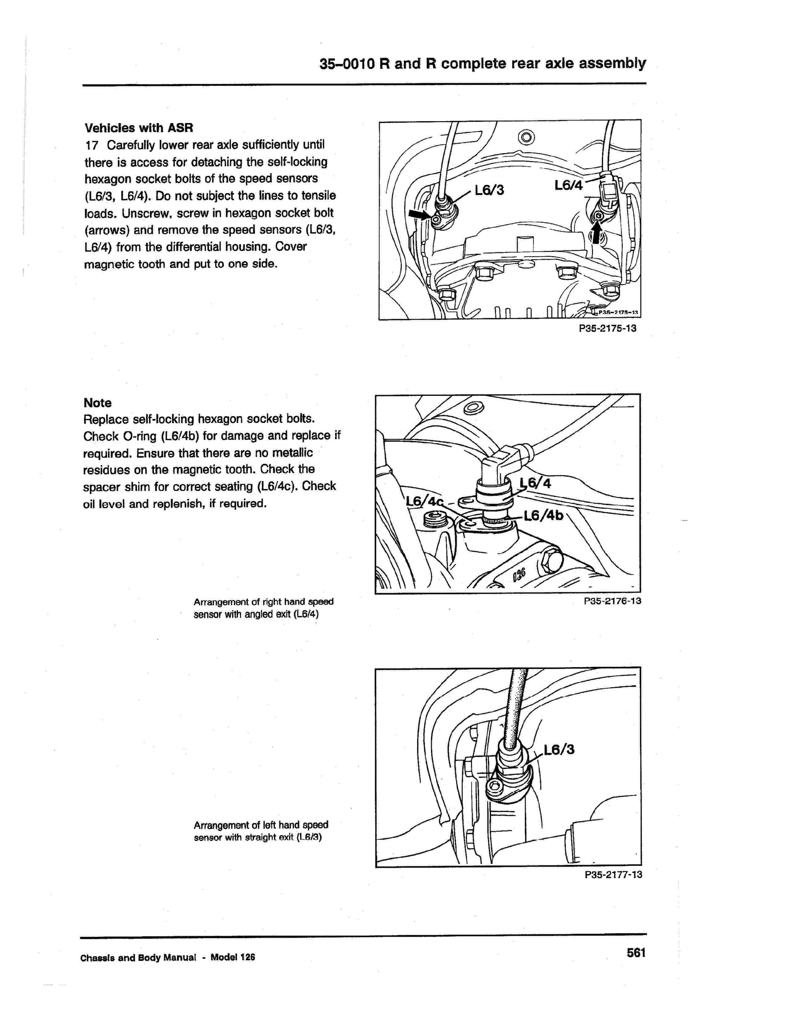 (W126): Diagrama completo da suspensão traseira  0010_126