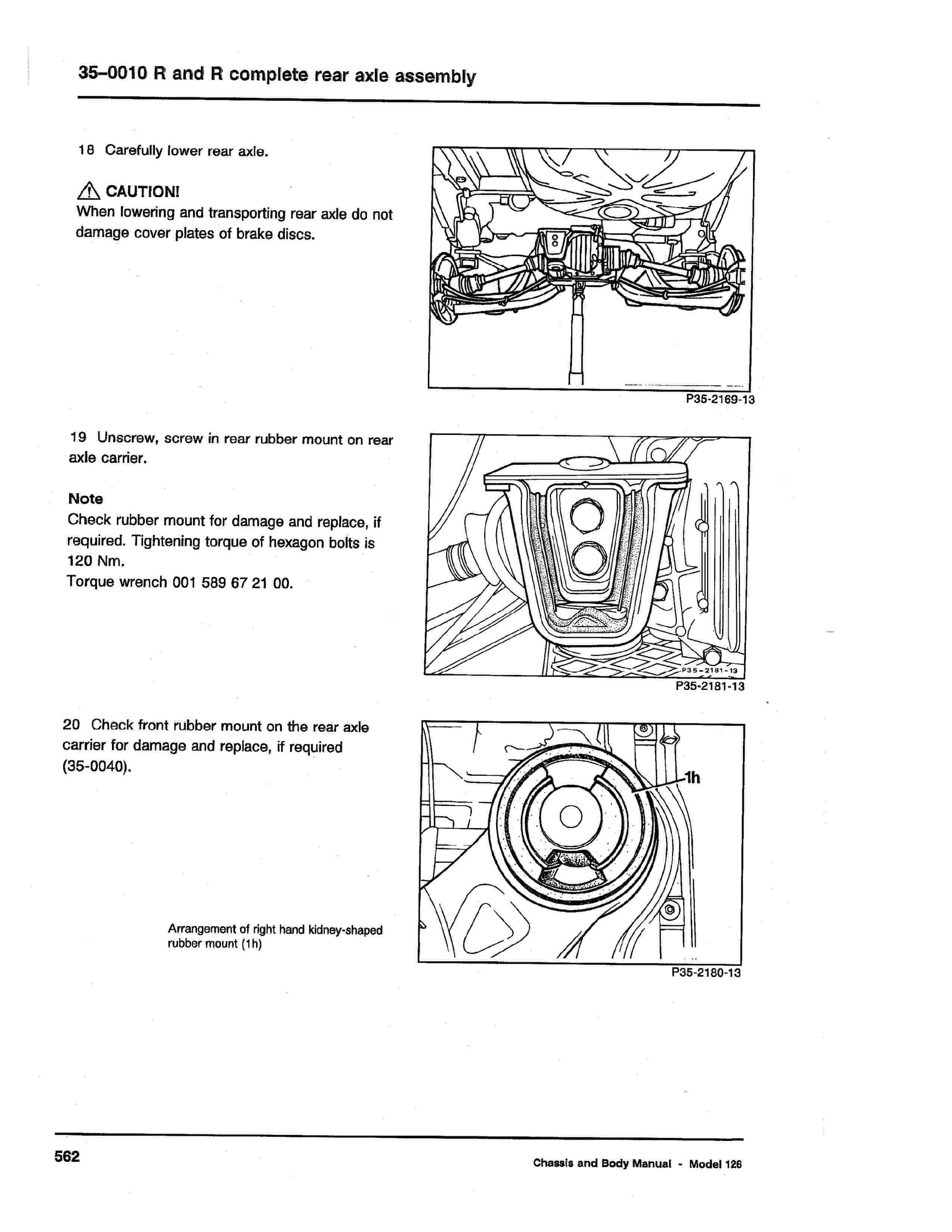 (W126): Diagrama completo da suspensão traseira  0011_124