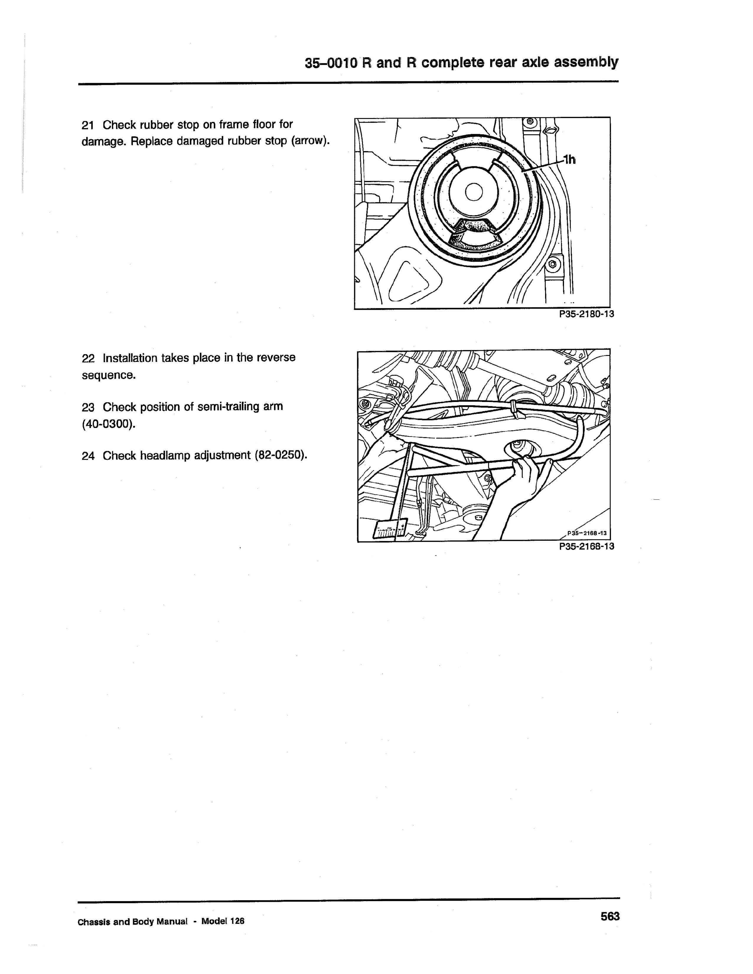 (W126): Diagrama completo da suspensão traseira  0012_122