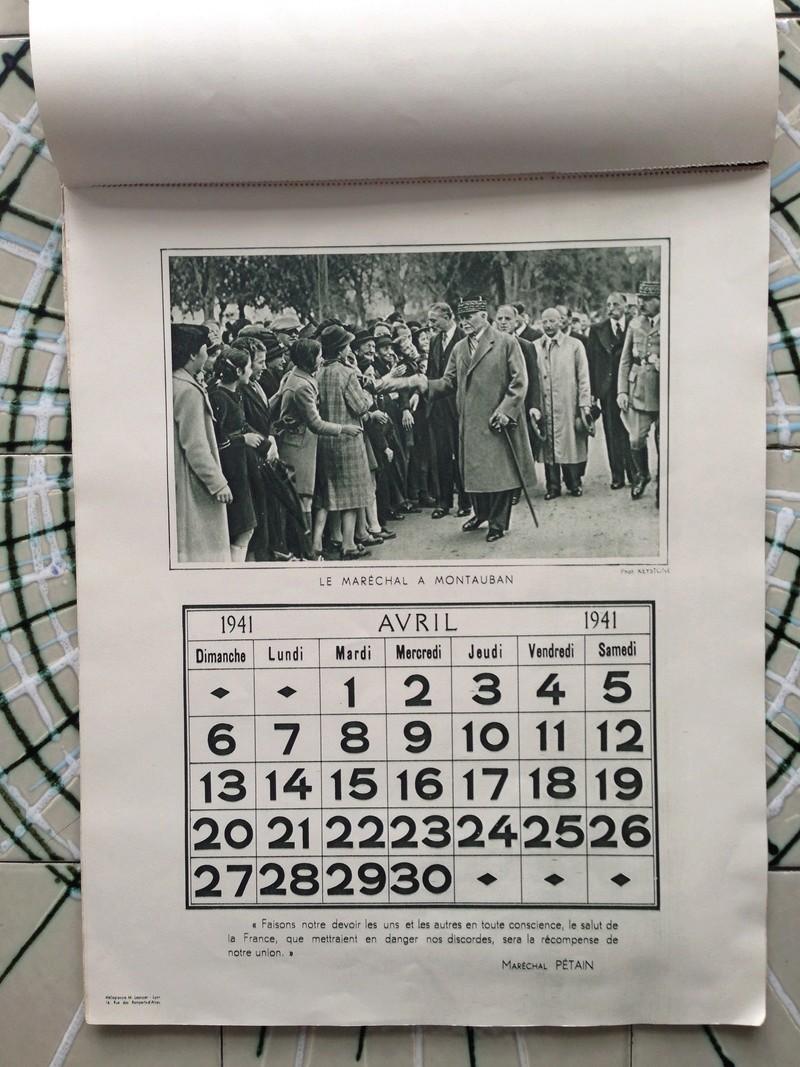 calendrier maréchal PETAIN_1941 en TTBE sorti de broc Img_0716