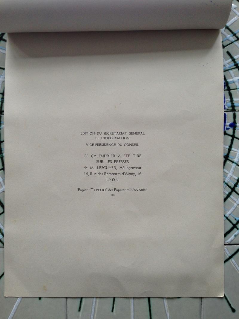 calendrier maréchal PETAIN_1941 en TTBE sorti de broc Img_0717