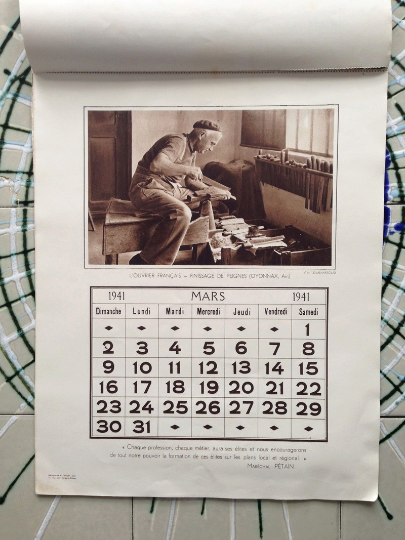 calendrier maréchal PETAIN_1941 en TTBE sorti de broc Img_0720