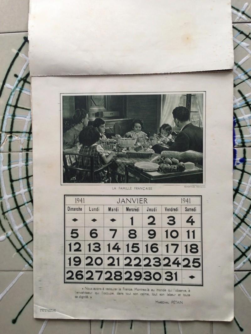 calendrier maréchal PETAIN_1941 en TTBE sorti de broc Img_0721