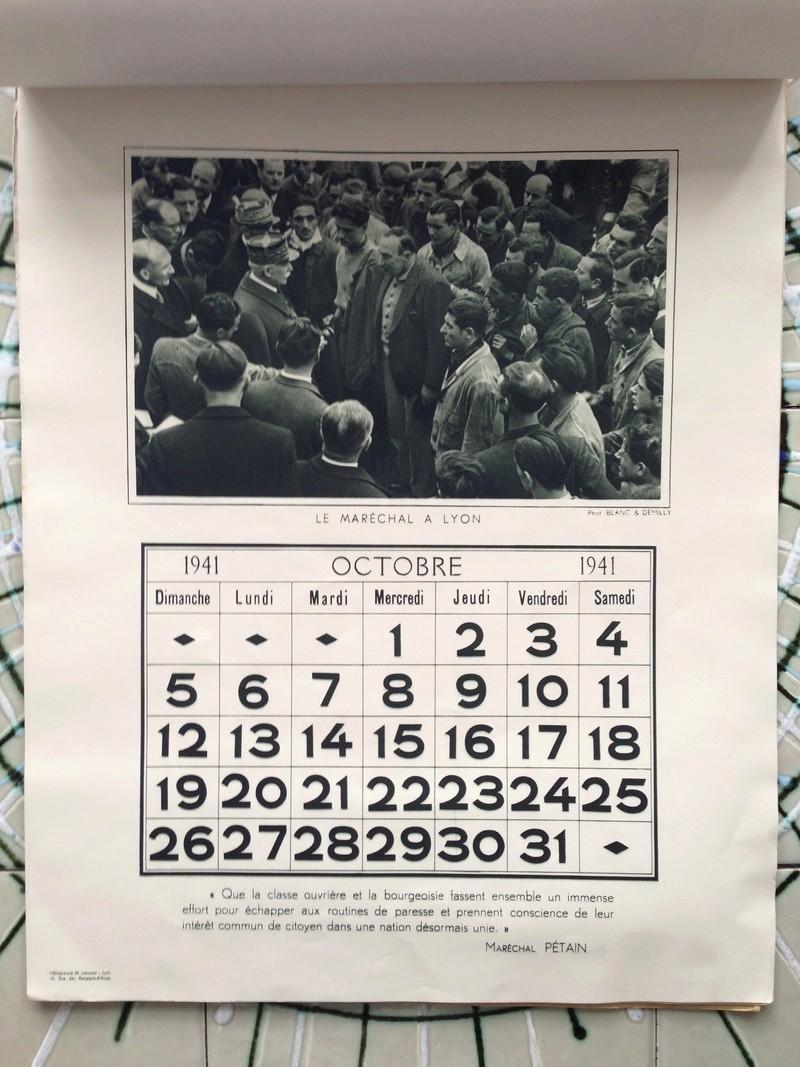 calendrier maréchal PETAIN_1941 en TTBE sorti de broc Img_0722