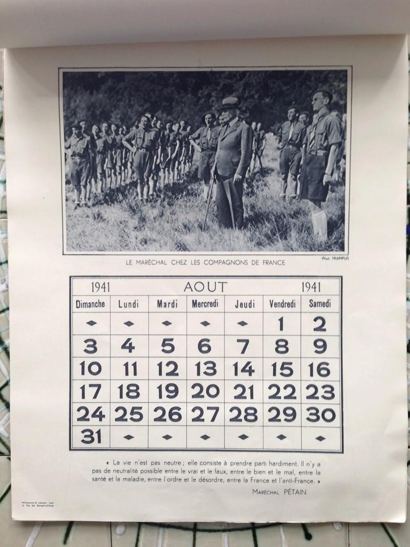 calendrier maréchal PETAIN_1941 en TTBE sorti de broc Img_0723