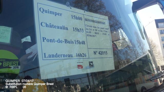 De Quimper à Landerneau en car TER     07/04/2017 (GARAGE) 20170405