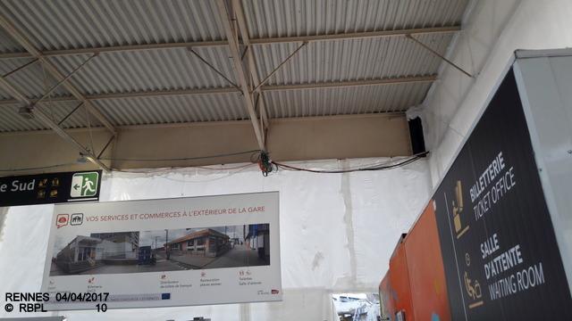 Point avancement travaux gare de Rennes  [03/04/17] 20170419