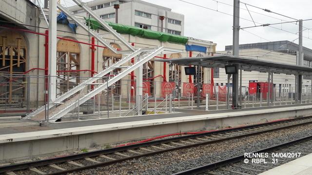 Point avancement travaux gare de Rennes  [03/04/17] 20170441