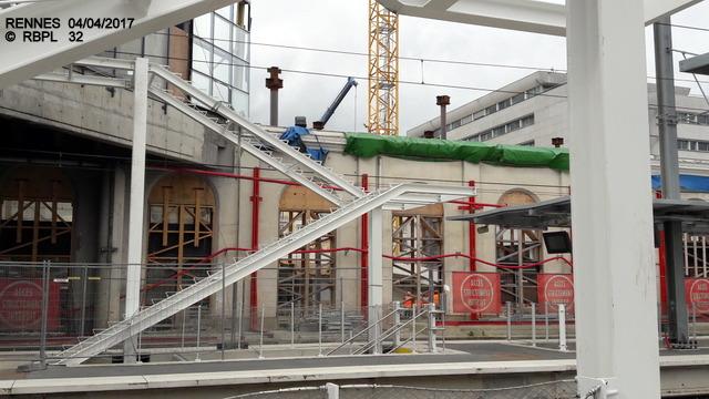 Point avancement travaux gare de Rennes  [03/04/17] 20170442