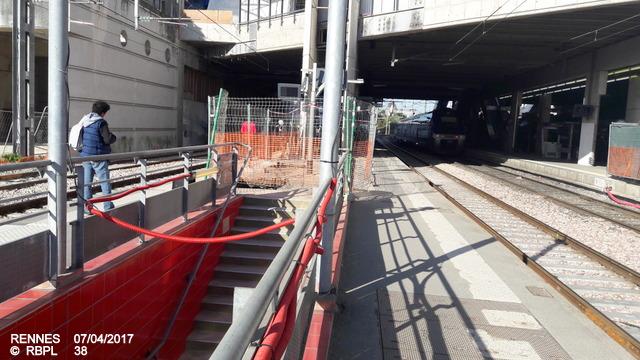 Point avancement travaux gare de Rennes  [03/04/17] 20170487