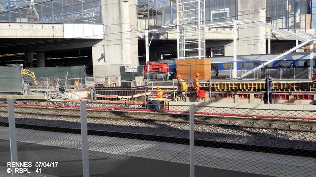 Point avancement travaux gare de Rennes  [03/04/17] 20170490