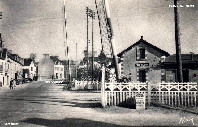 Gares de Pont de Buis, Quimerc'h CPA (1940/1950-60) Pont-d13